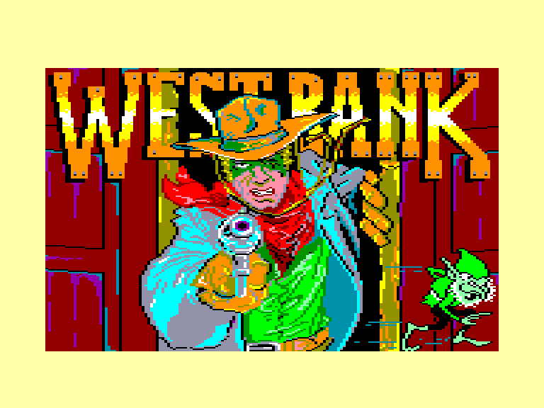 screenshot of the Amstrad CPC game West Bank