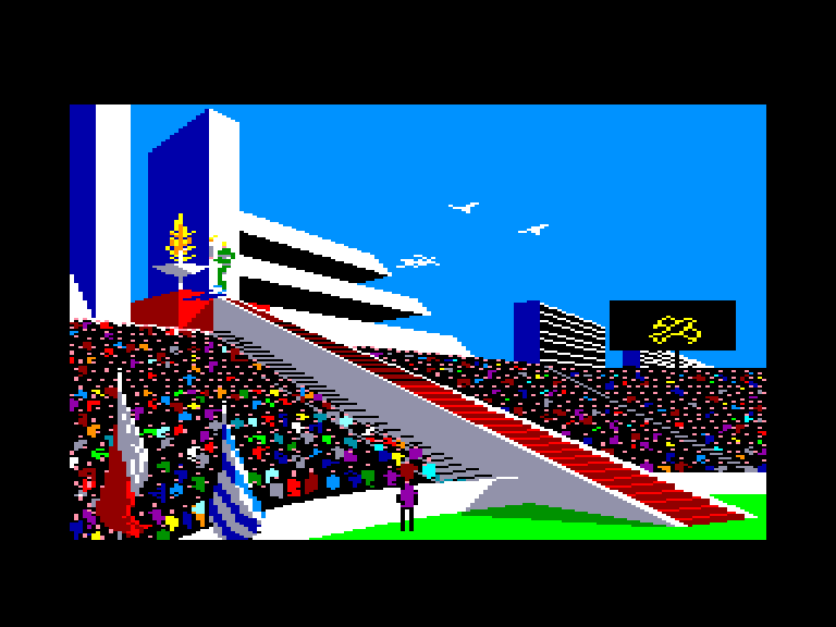 screenshot of the Amstrad CPC game Winter games