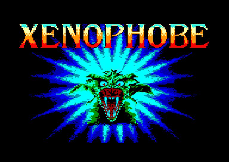 screenshot of the Amstrad CPC game Xenophobe