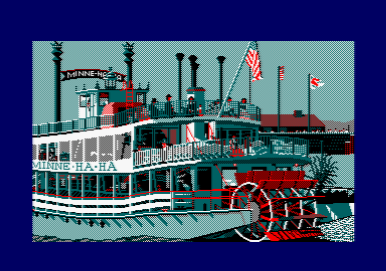 Steam boat by Jill Lawson, mode 1 picture on an Amstrad CPC