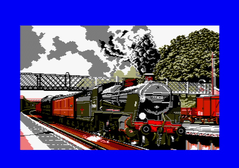 Train par Jill Lawson, image en mode 1 picture sur Amstrad CPC