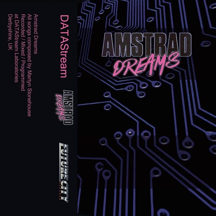 cover of Amstrad Dreams, a music album by DATAStream