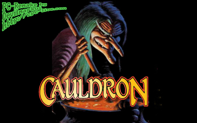 loading screen of the windows remake of Cauldron by Devilmarkus