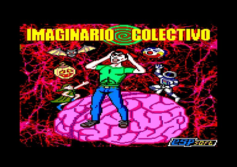 loading screen of the Amstrad CPC game Imaginario Colectivo
