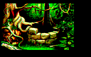 1st screenshot of a possible Maupiti island Amstrad CPC game