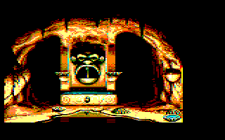 6th screenshot of a possible Maupiti island Amstrad CPC game