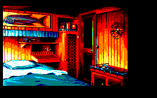 7th screenshot of a possible Maupiti island Amstrad CPC game