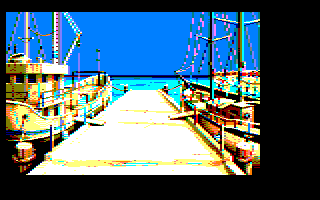 8th screenshot of a possible Maupiti island Amstrad CPC game