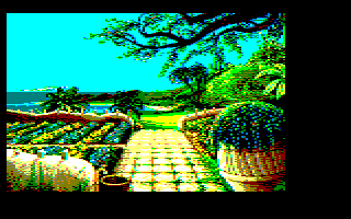 9th screenshot of a possible Maupiti island Amstrad CPC game