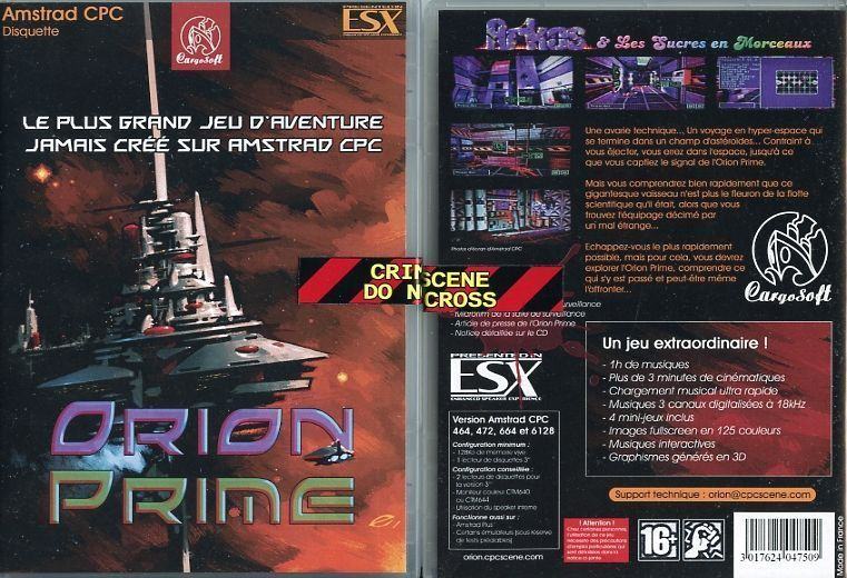 Orion Prime french packaging