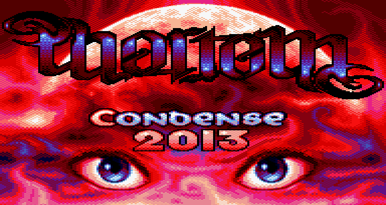 loading screen of the Amstrad CPC demo Phortem by Condense in 2013