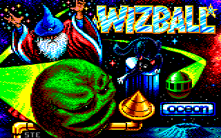 new loading screen of the wizball Amstrad CPC game by ste86