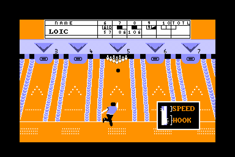 screenshot of the Amstrad CPC game 10th frame by GameBase CPC