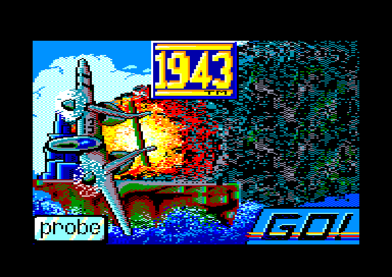 screenshot of the Amstrad CPC game 1943 by GameBase CPC