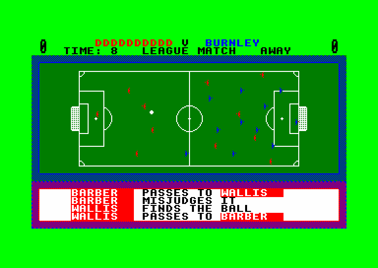 screenshot of the Amstrad CPC game 1st division manager by GameBase CPC