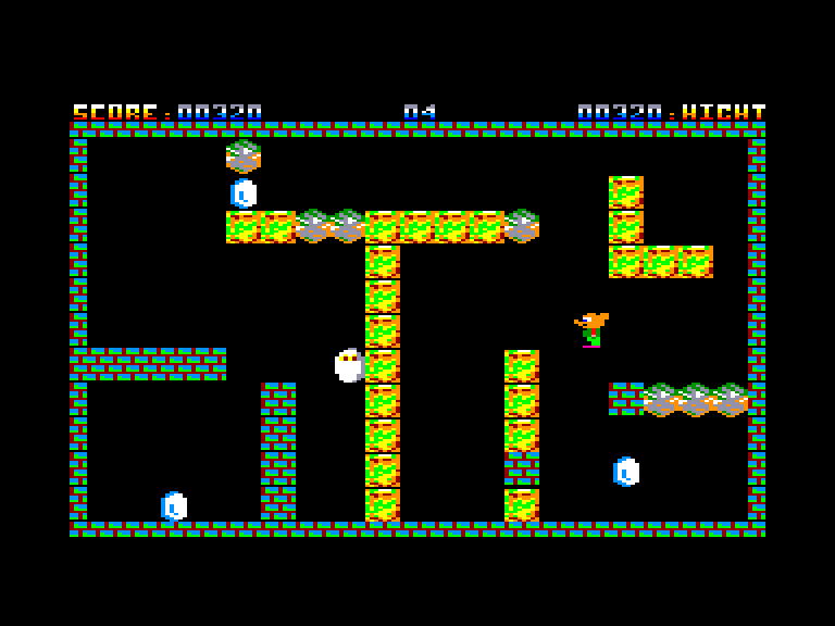 screenshot of the Amstrad CPC game 3 Oeufs by GameBase CPC