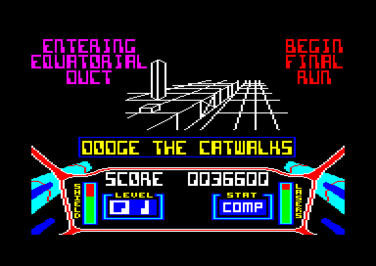 screenshot of the Amstrad CPC game 3D Starstrike by GameBase CPC