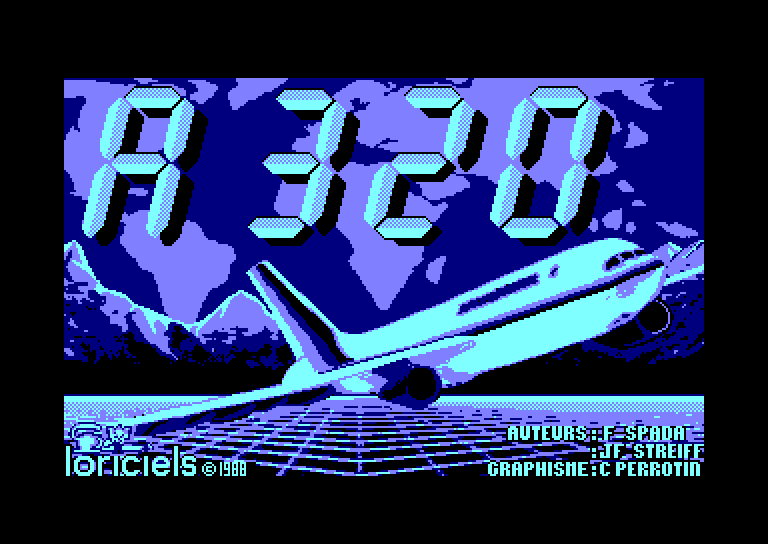 screenshot of the Amstrad CPC game A320 by GameBase CPC
