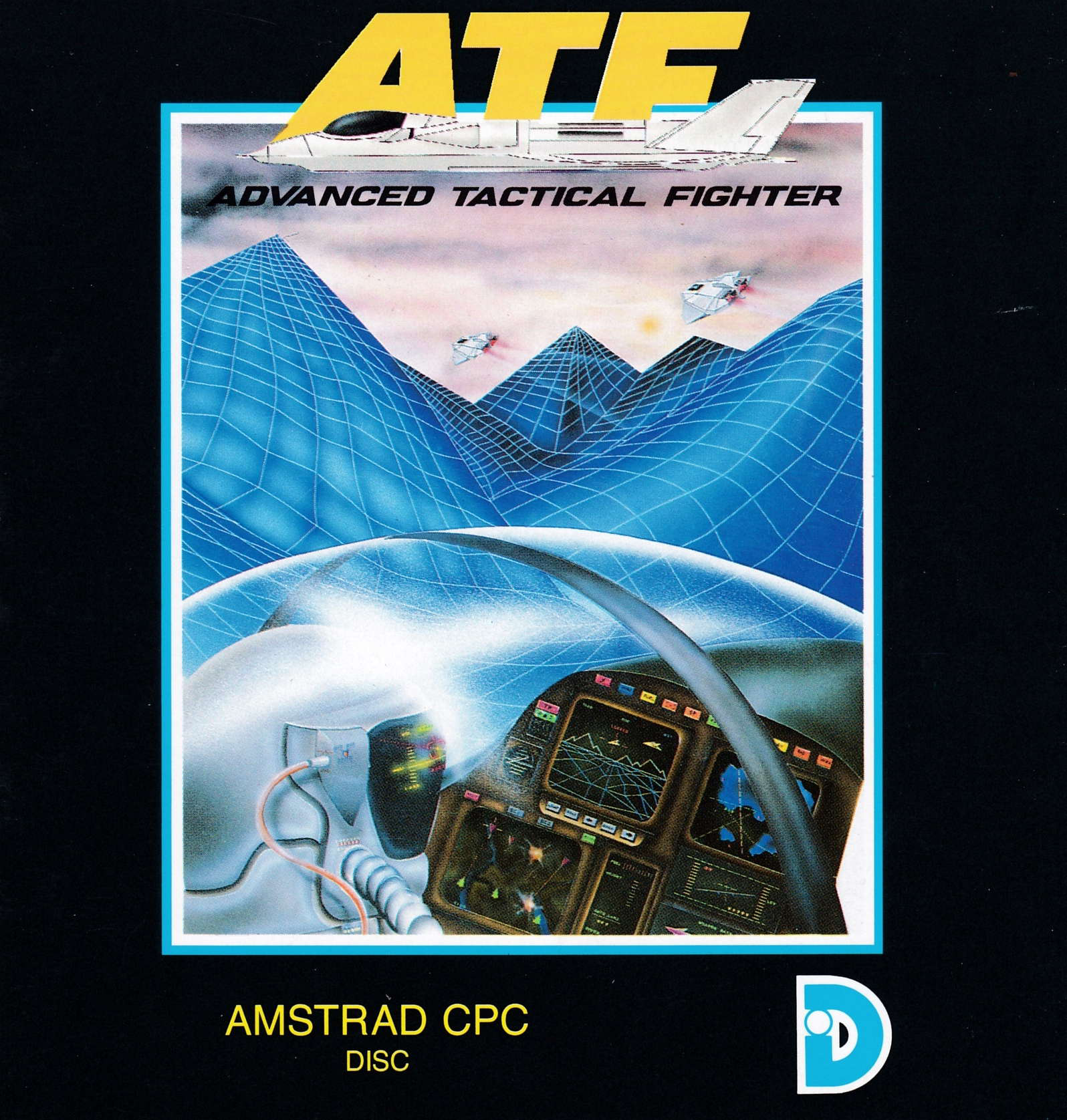 cover of the Amstrad CPC game ATF - Advanced Tactical Fighter  by GameBase CPC