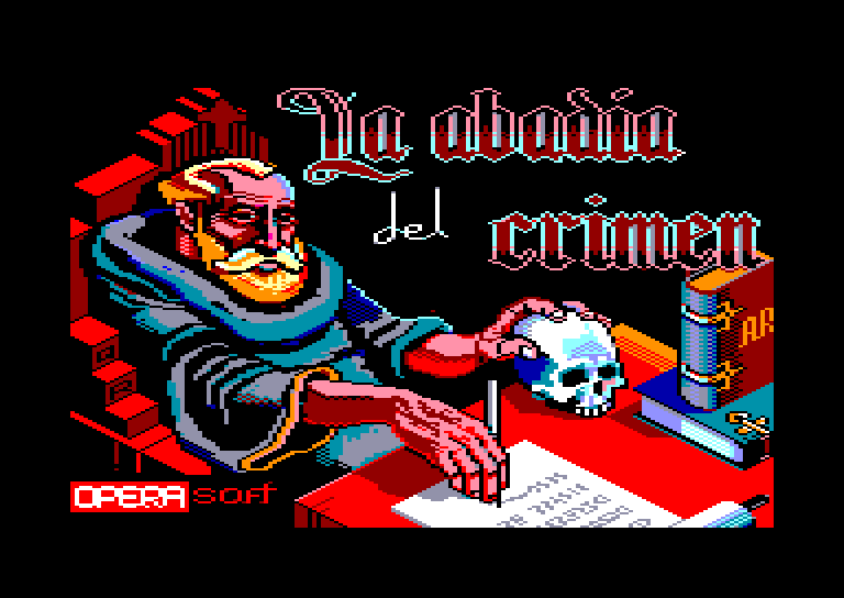 screenshot of the Amstrad CPC game Abadia del crimen (la) by GameBase CPC