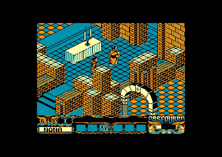 screenshot of the Amstrad CPC game Abadia del crimen (la) by GameBase CPC