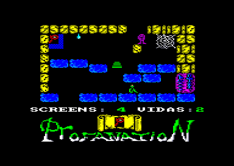 screenshot of the Amstrad CPC game Abu Simbel Profanation by GameBase CPC