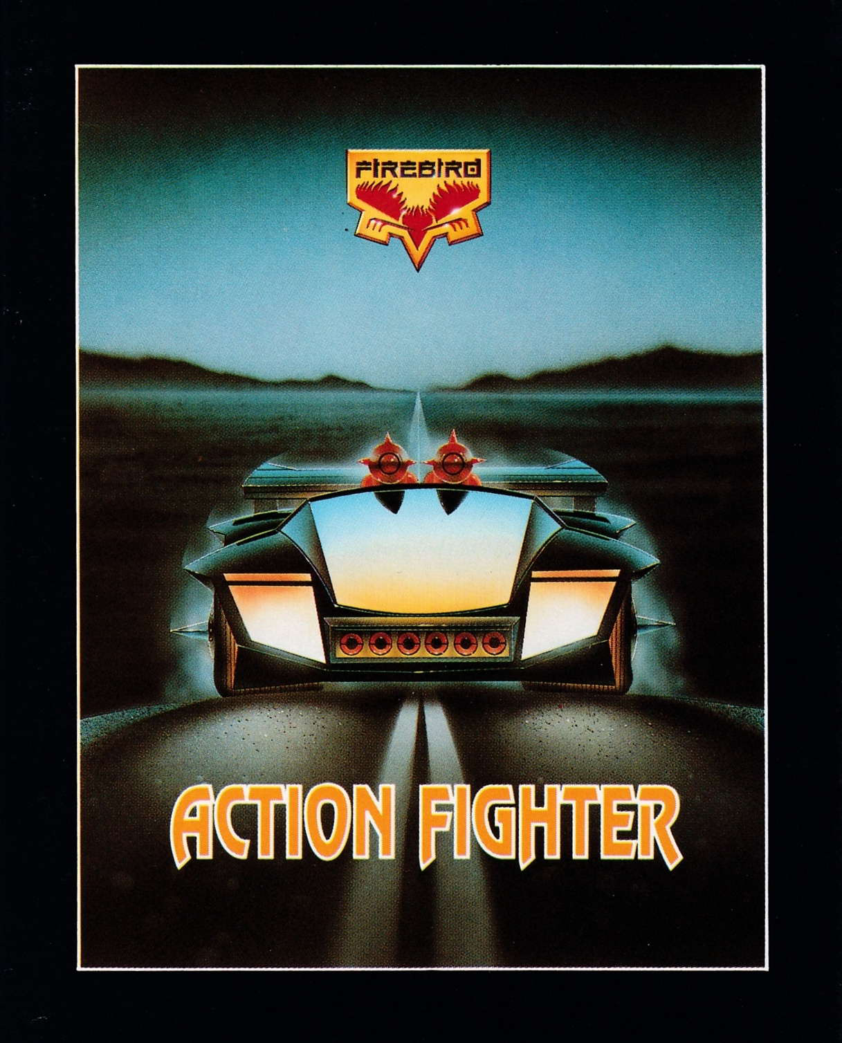screenshot of the Amstrad CPC game Action fighter by GameBase CPC
