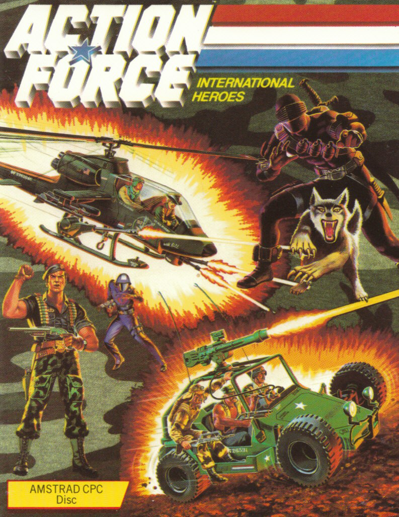 screenshot of the Amstrad CPC game Action force by GameBase CPC