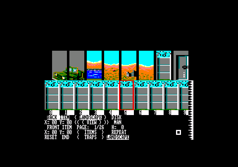 screenshot of the Amstrad CPC game Action service by GameBase CPC