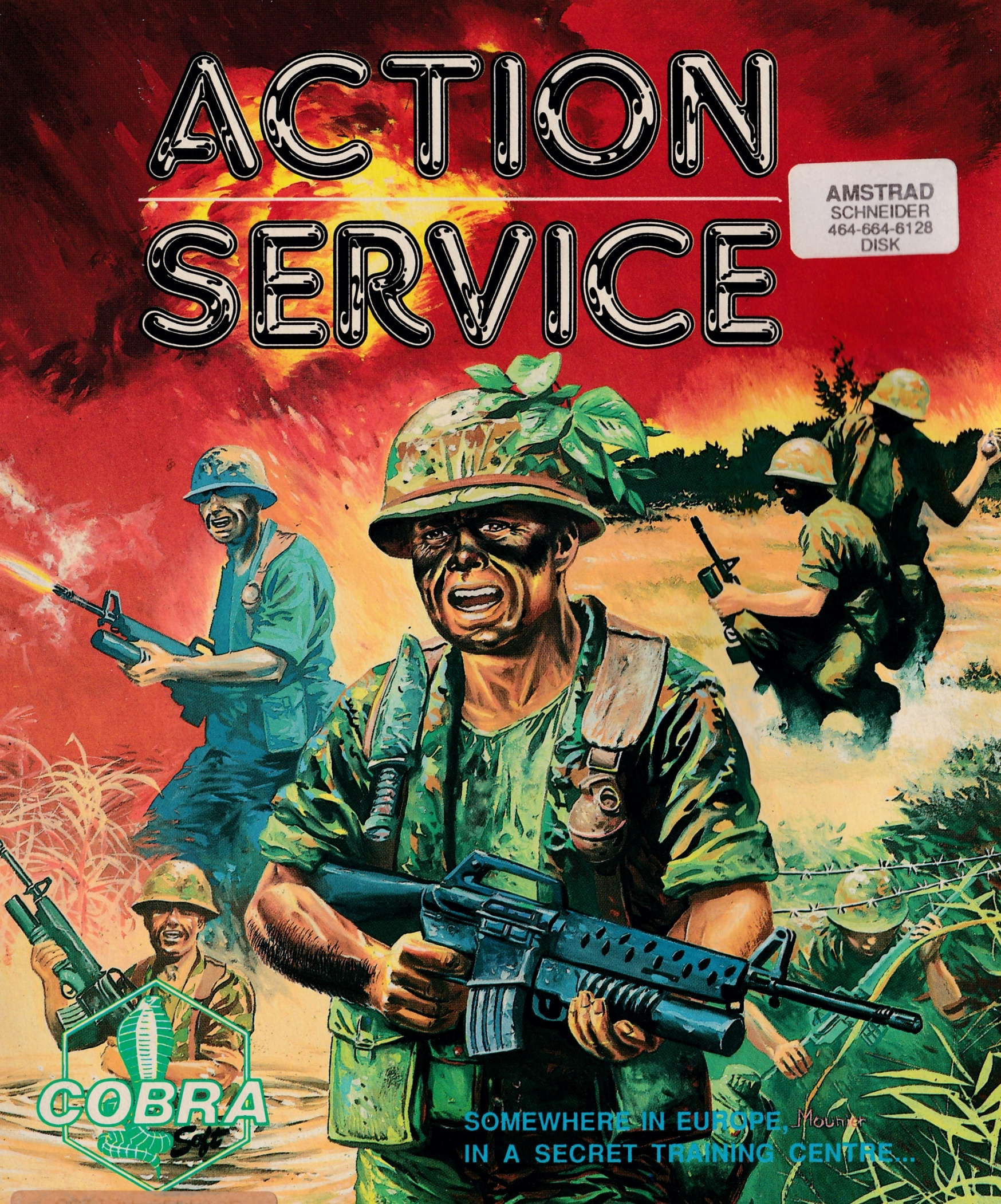 cover of the Amstrad CPC game Action Service  by GameBase CPC