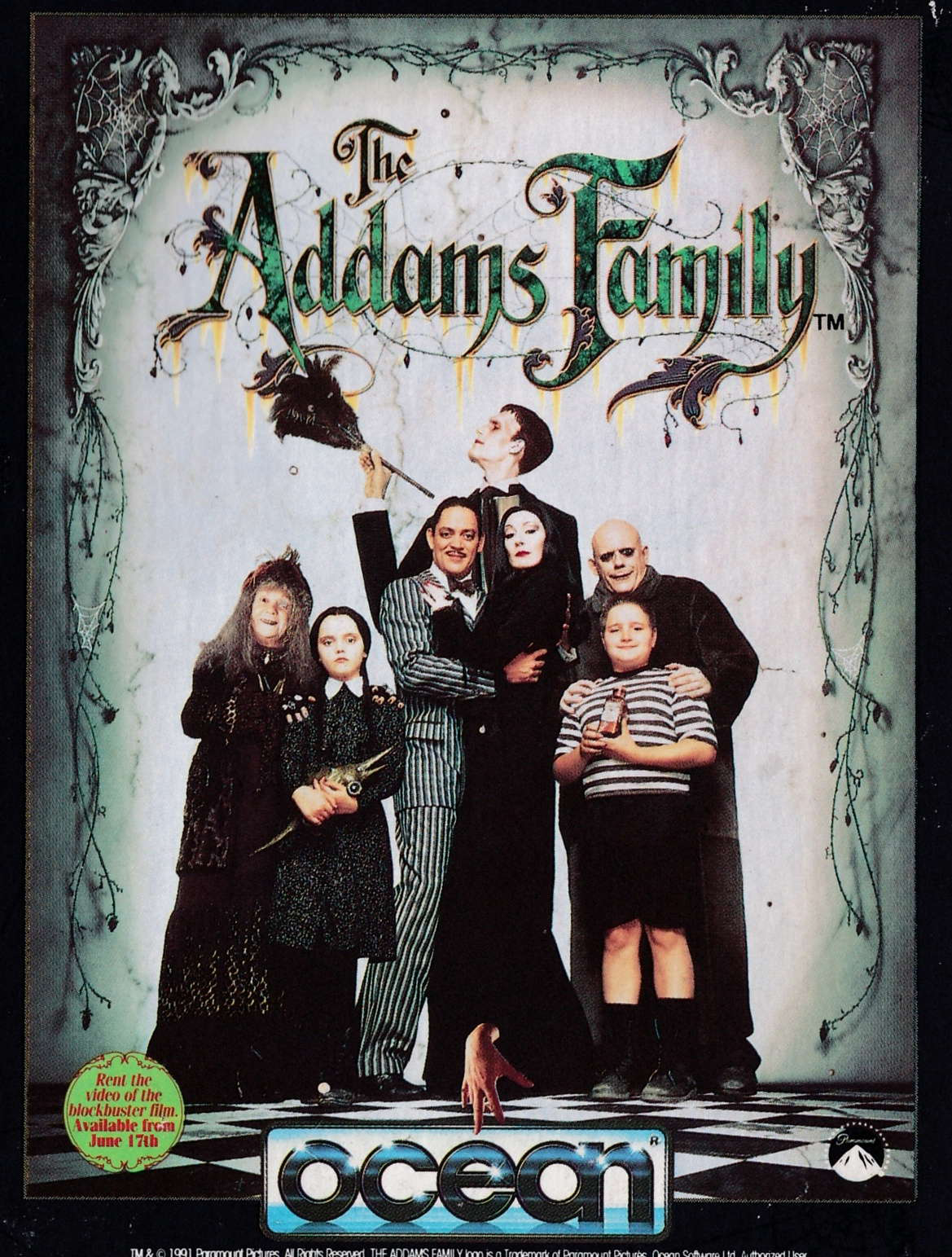 screenshot of the Amstrad CPC game Addams Family (the) by GameBase CPC
