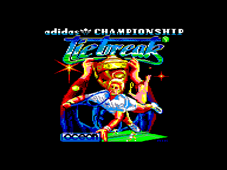 screenshot of the Amstrad CPC game Adidas championship tie-break by GameBase CPC