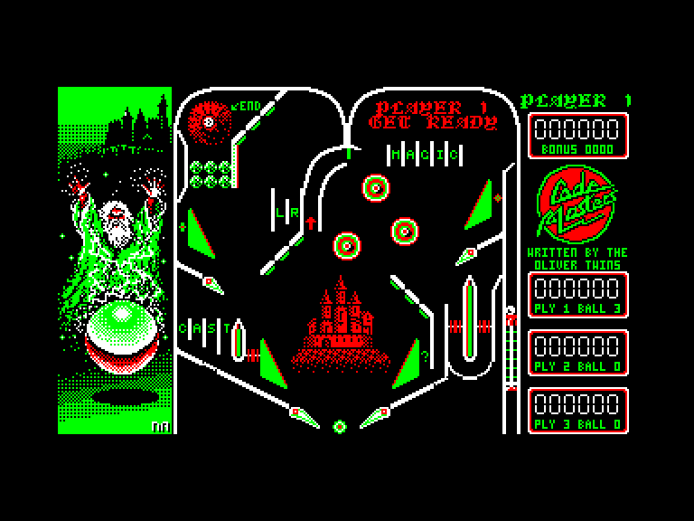 screenshot of the Amstrad CPC game Advanced pinball simulator by GameBase CPC