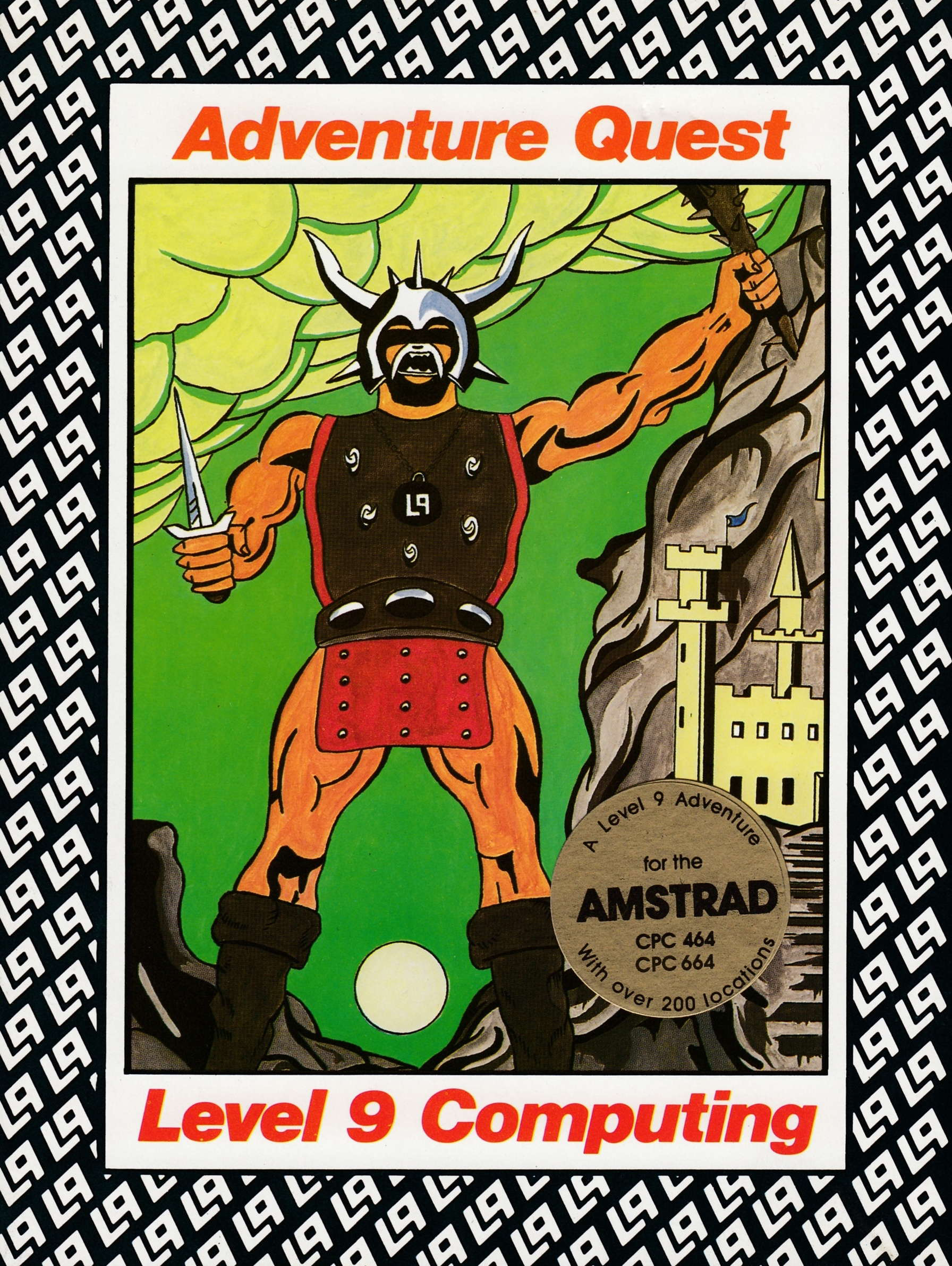 screenshot of the Amstrad CPC game Adventure quest by GameBase CPC