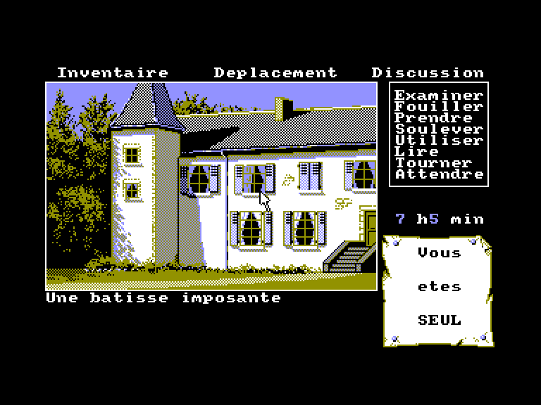 screenshot of the Amstrad CPC game Affaire ravenhood (l') by GameBase CPC