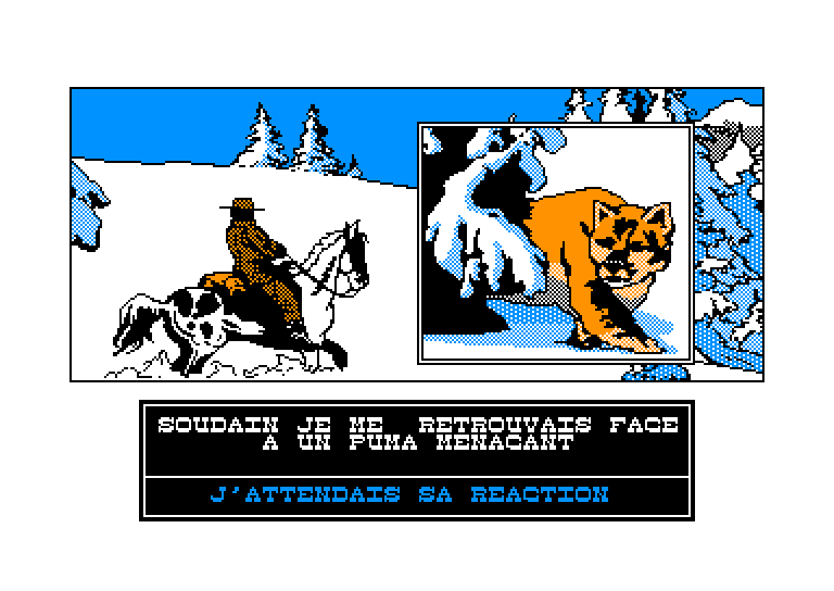 screenshot of the Amstrad CPC game Affaire santa fe (l') by GameBase CPC