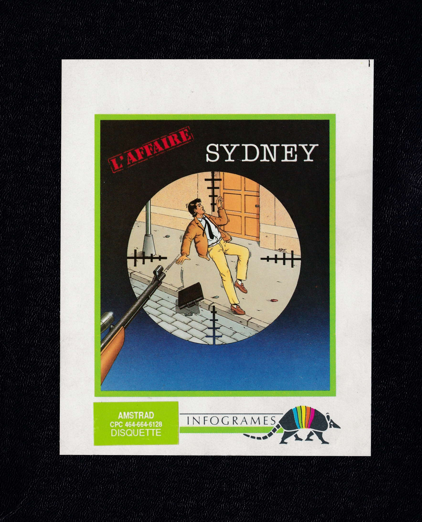 screenshot of the Amstrad CPC game Affaire sydney (l') by GameBase CPC