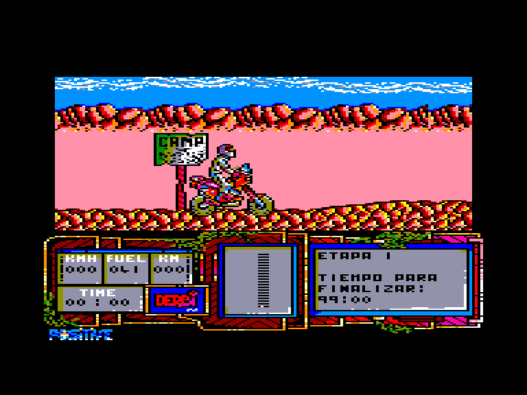 screenshot of the Amstrad CPC game African trail simulator by GameBase CPC