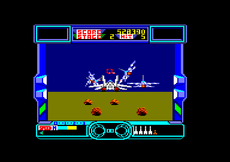 screenshot of the Amstrad CPC game After Burner by GameBase CPC