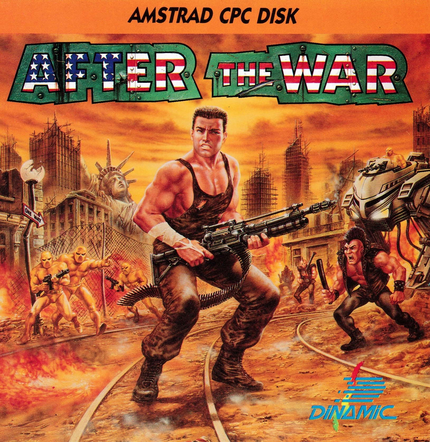screenshot of the Amstrad CPC game After the War by GameBase CPC
