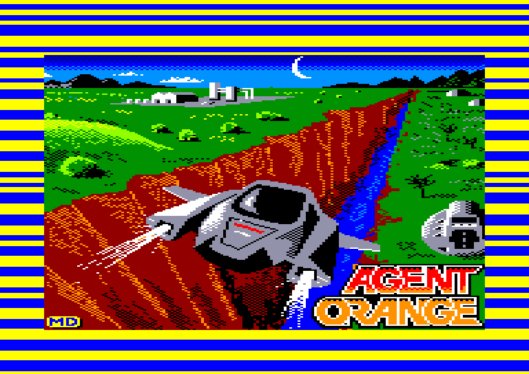 screenshot of the Amstrad CPC game Agent orange by GameBase CPC