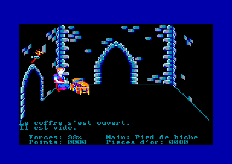 screenshot of the Amstrad CPC game Aigle d'Or (l') by GameBase CPC