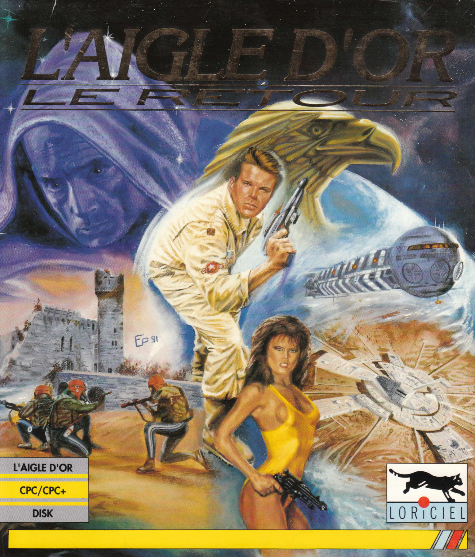 screenshot of the Amstrad CPC game Aigle d'Or - Le Retour (l') by GameBase CPC