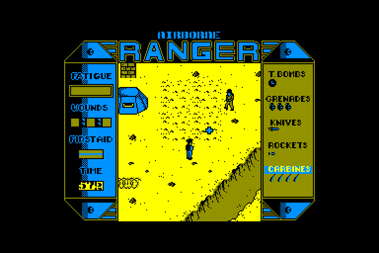 screenshot of the Amstrad CPC game Airborne ranger by GameBase CPC
