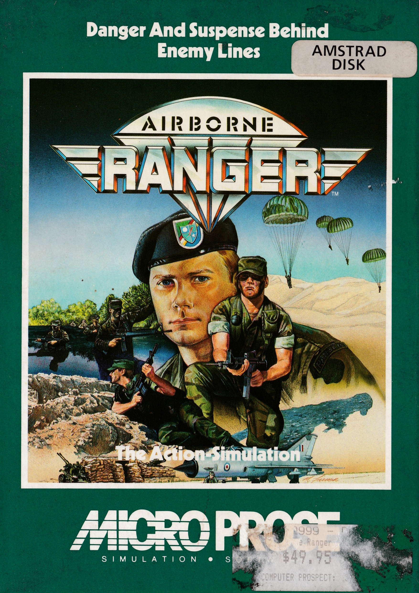 cover of the Amstrad CPC game Airborne Ranger  by GameBase CPC