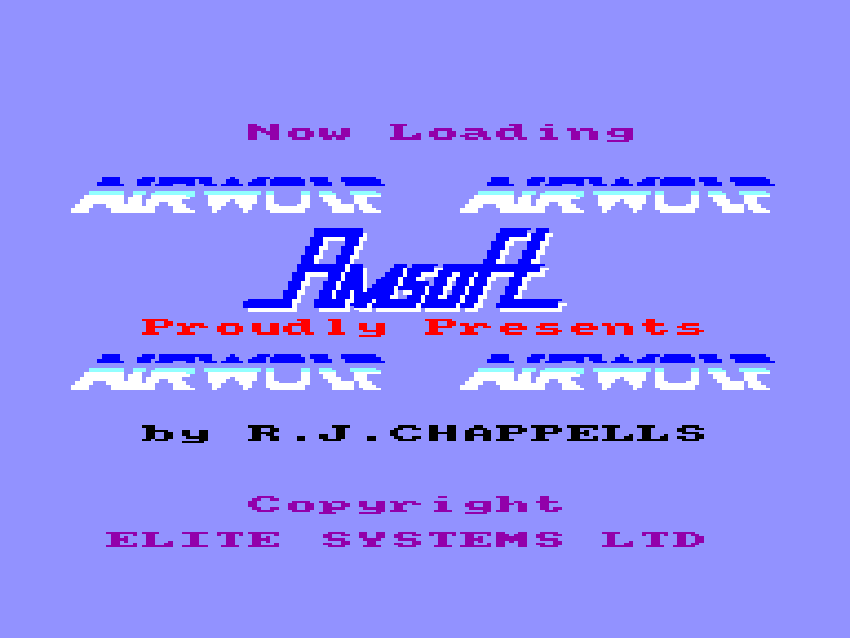 screenshot of the Amstrad CPC game Airwolf by GameBase CPC