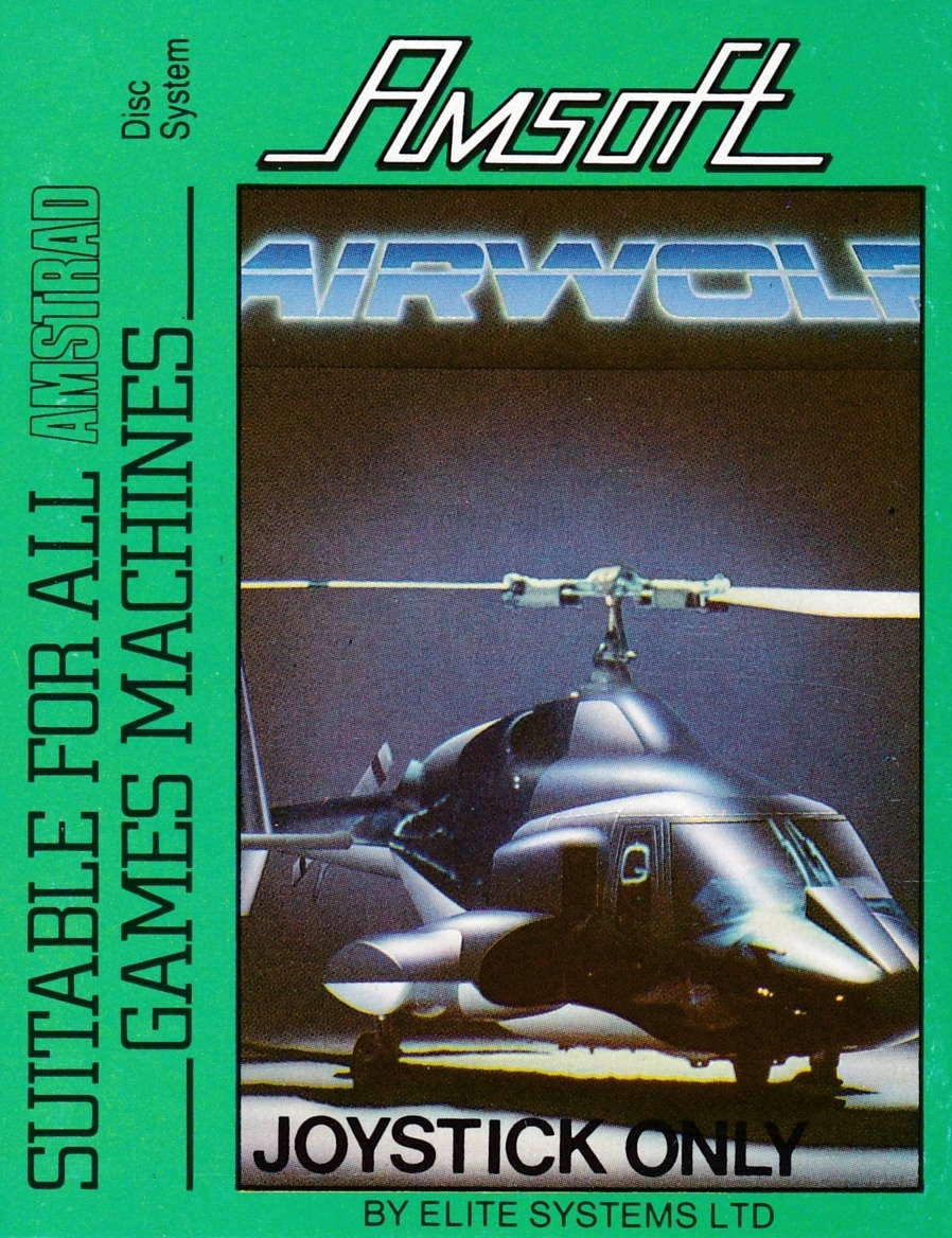 cover of the Amstrad CPC game Airwolf  by GameBase CPC