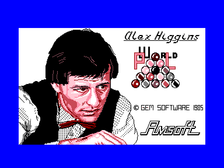 screenshot of the Amstrad CPC game Alex Higgins' World Pool by GameBase CPC
