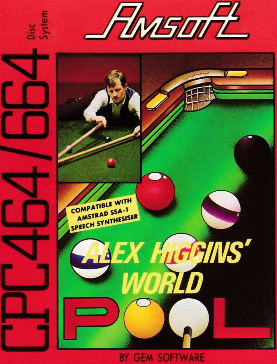 cover of the Amstrad CPC game Alex Higgins' World Pool  by GameBase CPC