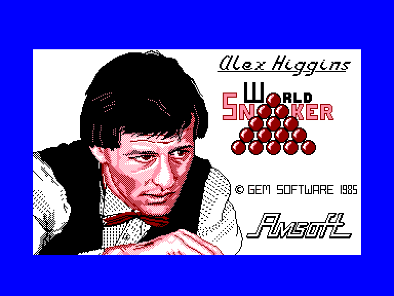 screenshot of the Amstrad CPC game Alex Higgins' World Snooker by GameBase CPC
